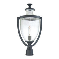 Minka-Lavery - Minka-Lavery Park Terrace 1-Light Outdoor Post Mount - 9166-66 - This 1-Light Post Light has a Black Finish and is part of the Park Terrace Collection.