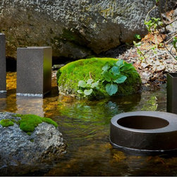 Urban Nature Planters in Aged Bronze - Premium modern planters for upscale indoor and outdoor spaces.