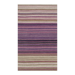 Safavieh - Safavieh Hand-woven Marbella White/ Lilac Wool Rug (2'3 x 4') - Safavieh's Marbella collection is inspired by timeless contemporary designs crafted with the softest wool available.