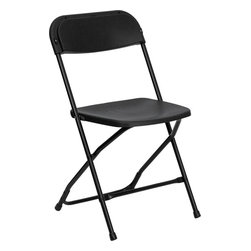 Flash Furniture - Flash Furniture Hercules Series 800 lb. Capacity Premium Plastic Folding Chair - Plastic folding chairs are the choice of many event planners for their lightweight design, ease of cleaning, and versatility among events. This portable folding chair can be used for Banquets, Parties, Graduations, Sporting Events, School Functions and in the Classroom. This chair will be the perfect addition in the home when in need of extra seating to accommodate guests. Constructed of lightweight textured polypropylene and a strong steel frame, these folding chairs will suit most any occasion.