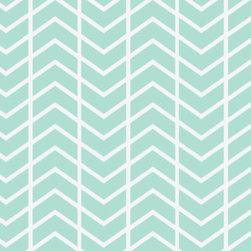 Chevron Stripe Sea Fabric By ninaribena - This fabric reminds me of waves.