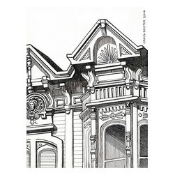 Victorian Detail Artwork - Pen and Ink drawing by Craig Baxter