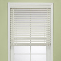 Welcome Industrial Corporation - Flat Bamboo Window Blind in White - Window covering blind has a beautiful stained white-colored finish making it a functional as well as stylish addition to any room. It's easily shortened to any length and includes the tilt wand.
