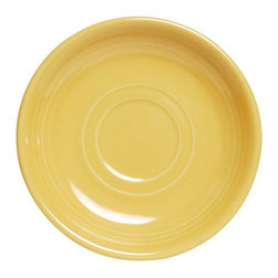 Tuxton - Concentrix 6 inch Saucer Saffron - Case of 24 - There are seven vibrant colors available in our Concentrix collection.