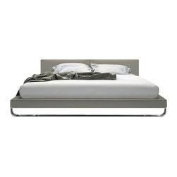 Modloft - Modloft Chelsea Bed in Dusty Grey Leather-Queen - Mod loft - Beds - MD331QGRY