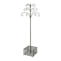 Garden Stake and Wind Chime Display - Great for any garden display, this metal piece easily holds your collection of garden stakes and wind chimes in an easy to shop, central location. Can also be used for a variety of items, think umbrellas and hats, walking sticks and canes, the list goes on!