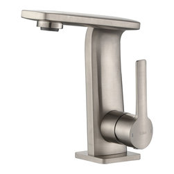 Kraus - Kraus KEF-15401BN Novus Single Lever Basin Bathroom Faucet Brushed Nickel - Give your bathroom a style upgrade with the Novus single lever