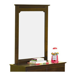 Atlantic Furniture - Atlantic Furniture Windsor Portrait Mirror in Antique Walnut - Atlantic Furniture - Mirrors - C69004 - Traditional in style and design with it's slim-line overhang top, arched frame-crown and wood grain finish, the Windsor Portrait Mirror will be a tasteful addition to your private space.