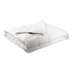Luxor Linens - San'T Agnello Hypo-Allergenic Comforter - Getting your beauty rest is a breeze when you curl up in this luxuriously soft hypoallergenic comforter. Featuring a sleek, 420-thread count shell, it's filled with a breathable and lightweight down alternative that keeps you warm and your allergies at bay.
