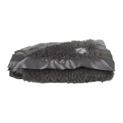 """Little Giraffe - Plush Throw- Charcoal - Bella Plush for Home is a more relaxed, luxurious pile that is equally soft and more chic. Its the perfect statement piece for any home dcor. Layer this warm, inviting accent on the sofa or bed. Measures 45"""" x 59""""."""