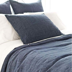 Pine Cone Hill - Chambray Linen Ink Duvet Cover - Chambray Linen Ink Duvet Cover
