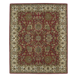 "Kaleen - Kaleen Taj TAJ05 (Red) 5' x 7'9"" Rug - This Hand Tufted rug would make a great addition to any room in the house. The plush feel and durability of this rug will make it a must for your home. Free Shipping - Quick Delivery - Satisfaction Guaranteed"