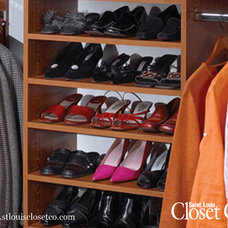 Traditional Clothes And Shoes Organizers by Saint Louis Closet Company