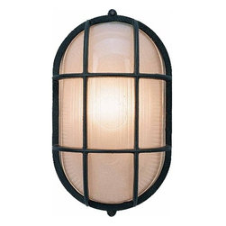 "Volume Lighting - Volume Lighting V8860 Nautical Outdoor 1 Light 11"" Height Outdoor Wall Sconce - One Light 11"" Height Outdoor Wall Sconce from the Nautical Outdoor CollectionFetching and fantastic, this 1 light outdoor wall sconce features a nautical theme and delightful frosted ribbed glass.Features:"