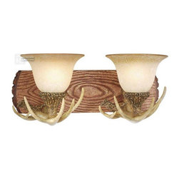 Vaxcel Lighting - Vaxcel Lighting VX-VL33022NS Lodge Traditional Wall Sconce - Created from faux rustic materials to form a realistic lodge motif.