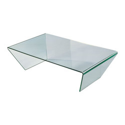 Moe's Home Collection - Moe's Home Sotto Glass Coffee Table - Contemporary glass coffee table with clean lines.