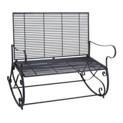 """Benzara - Metal Rocker Bench 41""""W, 36""""H Patio Furniture - Metal Rocker Bench 41""""W, 36""""H Patio Furniture. Some assembly may be required. Made with iron alloy. Size: 41""""x18""""x36"""""""