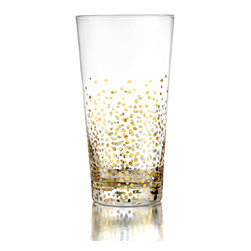 Jay Import Co. - Fitz & Floyd Gold Luster Set of 4 Highballs - Give a toast with these beautiful Gold Luster Set of 4 Highball Glasses from Fitz & Floyd. These beautiful Glasses are the perfect way to toast, drink and enjoy.