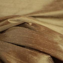 Eleganza F Bronze Polyester Faux Silk Drapery Fabric By The Yard - Eleganza F Bronze Polyester Faux Silk Drapery Fabric.