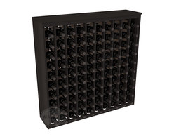 100 Bottle Deluxe Wine Rack in Redwood with Black Stain - This wooden wine rack functions well as either a freestanding wine rack furniture or as part of a complete wine cellar design. Solid top and side enclosures promote the cool and dark storage area necessary for aging your wine properly. Your satisfaction and our racks are guaranteed.