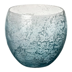 Lazy Susan - Lazy Susan 876003 Ombre Glacier Teardrop Bowl - Fill this bowl with clear marbles and plant a scented votive candle in it. Place it in your bathroom on a shelf to give the room a lovely glow and delicious fragrance. Or float one perfect flower as a lovely centerpiece for your dining table.