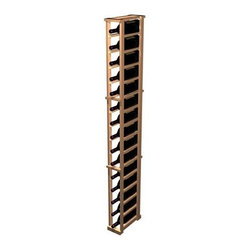 Wine Cellar Innovations - Designer 1-Column Magnum Wine Rack (Premium Redwood - Unstained) - Choose Wood Type and Stain: Premium Redwood - Unstained. Bottle capacity: 16. One column wine rack. Beveled ends and rounded edges ensures wine labels will not tear when the bottles are removed. Full wine bottle depth coverage at 13.5 deep. 6.06 in. W x 13.5 in. D x 72 in. H (28 lbs.). Rack should be attached to a wall to prevent wobble. Designer collection. Made in USA. Warranty. Assembly Instructions