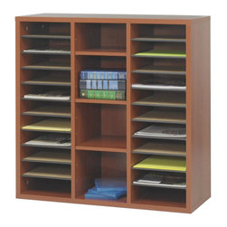 Safco - Safco Apres Modular Storage Literature Organizer in Cherry - Safco - Computer Desks - 9441CY - About this product: Your workspace is always changing, so when it does make sure it changes in style! With Apres Modular Storage you can change your organization and storage options as you need them. Apres works great in executive offices, managers offices, reception area, conference room, media center or training room. Use them together or individually to get the perfect amount of storage options. Additionally use pieces separately in lounge areas, home or work office, classroom or library. And if you ever need more storage space easily add another Apres!