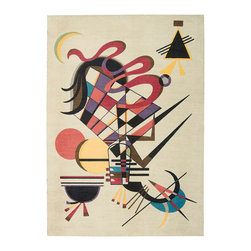 Nourison - Nourison Modern Art MDR06 4' x 6' Balsa Area Rug 11553 - Museum-ready! Imaginative shapes in painterly colors create an abstract and visually compelling world. It's an exciting focal point that adds a modern twist to any home. The luxurious feel provides comfort underfoot and adds to the pleasure of ownership.