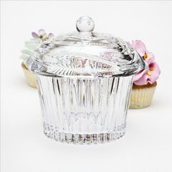 Godinger - Godinger Cupcake Covered Box - Crystal Glass Multicolor - 64601 - Shop for Food Storage Containers from Hayneedle.com! The perfect showcase for your cupcake creation the Godinger Cupcake Covered Box - Crystal Glass is adorable. Made of quality crystal glass this cutie has a cupcake topper with cherry finial and ridged bottom to look like a crystal-clear cupcake. So cute!About GodingerBased in Ridgewood N.Y. Godinger has been creating distinctive kitchenware home decor and gifts for over 40 years. Hand-crafted from crystal pewter and silver Godinger's unique wedding gifts and home decor make any special occasion even more meaningful. From serving dishes and silverware to barware and centerpieces their wide tableware selection puts the art back into dining. Godinger is committed to providing excellent quality and style at affordable prices for every customer.