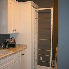 Transitional Laundry Room by Belman Homes