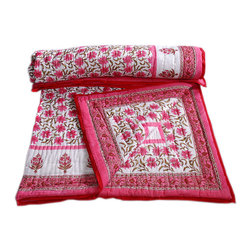 Rajasthani Handmade Quilt - I'd love a beautiful quilt like this for my girls.