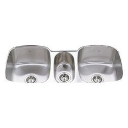 American Standard - American Standard Triple Bowl Undermount Sink, Stainless Steel (16TB.411900.073) - American Standard 16TB.411900.073 Triple Bowl Undermount Sink, Stainless Steel