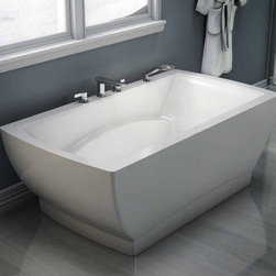 Neptune - Neptune | Believe Freestanding Activ-Air Tub - Made in Quebec, Canada by Neptune. Visit our Neptune Bathtub Buying Guide to help you determine which tub is right for you. The Believe Freestanding Activ-Air Tub will make a lasting impression with its modern structure and solid construction. This luxurious activ-air tub system uses warm air that is injected into the water creating thousands of massaging bubbles. Micro-jets, located at the bottom of the tub contours, ensure this contemporary tub will soothe its user into pure relaxation. Ergonomic, easy to start, and easy to clean; this bathtub will be the perfect addition to your bath space. Product Features: