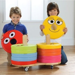 Kalokids Emotions Donut Cushion Cart - A new classroom staple, the Kalokids Emotions Donut Cushion Cart has uses limited only by your creativity. The solid wood wheeled trolley is handmade and neatly stores the 12 included donut cushions. Each cushion features a facial expression on one side, with corresponding descriptions on the back side. Not only can the cushions be used for seating, but for interactive games and learning as well. The cushions are covered with wipe-clean colorful vinyl.About KalokidsKalokids mission is creating practical, innovative products for the growth and development of children's minds, bodies, and overall sense of well-being. Their stringent quality standards have been internationally recognized and they are continuously improving processes to enhance the final product as well as customer satisfaction. They utilize their in-house design team to react quickly to consumer demands and evolving markets. Every aspect of each design is carried out by their team. Kalokids designers work closely with team members who research the market to bring the latest concepts to fruition.
