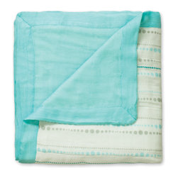 aden and anais - aden + anais Bamboo Dream Blanket in Azure Beads - Bamboo Dream Blanket in Azure Beads
