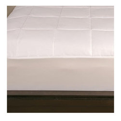 Outlast - Dreamaire Cotton Mattress Pad - Outlast technology responds to changes in temperature. It is uniquely engineered to help migrate the effects of hot flashes and overheating. Create a complete temperature regulation sleep system with the Outlast bedding line. Features: -Material: Sateen weave, 50% cotton / 50% Outlast.-Fill: Polyester.-350 Thread count.-Color: White.-Collection: Dreamaire.-Distressed: No.-Product Type: Mattress pad.-Color: White.-Material: cotton,non woven polyester,knit polyester.-Number of Items Included: 1.-Water Resistant: No.-Stain Resistant: No.-Fire Resistant: No.-Mold Resistant: No.-Bed Bug Resistant: No.-Dust Mite Resistant: No.-Hypoallergenic: Yes.-Removable Cover: No.-Machine Washable: Yes.-Pillow Top: Yes -Removable Pillow Top: No..-Memory Foam: No.-Quilted: Yes.-Baffled Box Stitching: No.-Fill Ounces per Yard: 7.5 oz.-Thread Count: 350.-Temperature Control: Yes -Dual Controller: No..-Firmness: Medium.-Incline: No.-Stretch Skirt: Yes.-Slip Resistant Skirt: Yes.-Recommended Mattress Thickness: 15.-Swatch Available: No.-Recycled Content: No.Specifications: -eko-Tex Standard Compliant: Yes.Dimensions: -39'' - 78'' H x 75'' - 84'' W x 15'' D.-Overall Width - Side to Side (Size: Twin): 39.-Overall Length - Head to Foot (Size: Twin): 75.-Overall Width - Side to Side (Size: Queen): 60.-Overall Length - Head to Foot (Size: Queen): 80.-Overall Width - Side to Side (Size: King): 78.-Overall Length - Head to Foot (Size: King): 80.-Overall Width - Side to Side (Size: Full): 54.-Overall Length - Head to Foot (Size: Full): 75.-Overall Width - Side to Side (Size: California King): 72.-Overall Length - Head to Foot (Size: California King): 84.