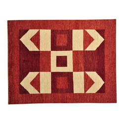 1800GetARug - Oriental Rug 100% Wool Modern Gabbeh Hand Knotted Rug Sh13692 - Our Modern & Contemporary collection contains some of the latest designs in the industry. The range includes geometric, transitional, abstract, and modern designs; from the Tibetans to the Gabbeh. We offer an entire line of contemporary designs, whether you're searching for sophisticated and muted to the vibrant and bold.