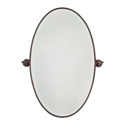 Minka-Lavery - Minka-Lavery Pivot Mirrors XL Oval Mirror - Beveled - 1432-267 - This Mirror has a Bronze Finish.
