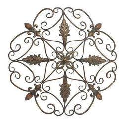 Benzara - Elegant and Antique Themed Metal Wall Decorative - Elegant and Antique Themed Metal Wall Decorative. Adorn your walls with this elegant antique themed metal wall decorative. Some assembly may be required.
