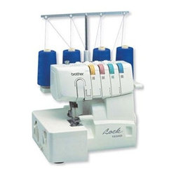 Brother Sewing - Serger 3 or 4 Thread Easy Lay In - Brother 1034D 3 or 4 Thread Serger with Easy Lay in Threading with Differential Feed - Reliable high performance 3/4 thread serger delivers professional edge finishing on a wide range of fabrics including knits linens and formal wear. Create ruffles decorative edges gathers; join laces; serge narrow sleeves spaghetti straps and more! 22 built-in stitch functions with 4-thread overlock 3-thread overlock narrow rolled hem and ribbon lock stitches with specialty stitch functions for formal and bridal wear home decor and crafts heirloom and reinforced tape applications. Differential fabric feed; for truly professional even stitch quality even on thin knitted and stretchy fabrics. Easy to thread easy to learn and use; with included instruction video printed manual and completely color-coded and numbered upper and lower looper threading. Includes free phone support for the life of the product and a 25-year limited warranty. Comes complete with 2 snap-on feet, foot controller, soft cover.