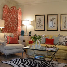 Traditional Living Room by Erika Bonnell Interiors