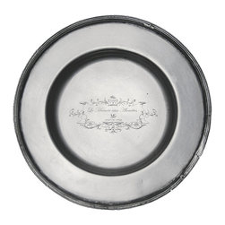 Brasserie Pewter Round Tray - Fetes, feasts, and intimate birthday teas alike acquire a handsome old-world impression when you add the deep greys and burnished metallic glow of brushed pewter to your arrangements. The Brasserie Pewter Round Tray is a small service piece, designed for shot glasses, dinners rolls, or date-night double servings, which makes a useful addition to your decorative and table-setting supply.