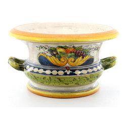 Artistica - Hand Made in Italy - Florentine: Round Centerpiece - Cachepot Bowl - Florentine Collection: