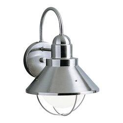 Kichler Lighting - Kichler Lighting 9023NI Seaside Lodge/Country/Rustic Outdoor Wall Light - XLarge - Kichler Lighting 9023NI Seaside Lodge/Country/Rustic Outdoor Wall Light - XLarge In Brushed Nickel