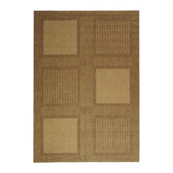 """Safavieh - Indoor/Outdoor Courtyard 4'x5'7"""" Rectangle Brown - Natural Area Rug - The Courtyard area rug Collection offers an affordable assortment of Indoor/Outdoor stylings. Courtyard features a blend of natural Brown - Natural color. Machine Made of Polypropylene the Courtyard Collection is an intriguing compliment to any decor."""