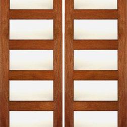 "RB-02 Interior Wood Mahogany Contemporary Matte Glass Double Door - SKU#RB-02-2BrandAAWDoor TypeInteriorManufacturer CollectionInterior Doors RUBIDoor ModelDoor MaterialWoodWoodgrainMahoganyVeneerPrice680Door Size Options2(24"") x 80"" (4'-0"" x 6'-8"")  $02(28"") x 80"" (4'-8"" x 6'-8"")  +$202(30"") x 80"" (5'-0"" x 6'-8"")  +$202(32"") x 80"" (5'-4"" x 6'-8"")  +$202(36"") x 80"" (6'-0"" x 6'-8"")  +$202(24"") x 96"" (4'-0"" x 8'-0"")  +$1602(28"") x 96"" (4'-8"" x 8'-0"")  +$1802(30"") x 96"" (5'-0"" x 8'-0"")  +$2002(32"") x 96"" (5'-4"" x 8'-0"")  +$2002(36"") x 96"" (6'-0"" x 8'-0"")  +$200Core TypeSolidDoor StyleModernDoor Lite Style5 LiteDoor Panel StyleHome Style MatchingContemporary , Craftsman , Bungalow , Gulf CoastDoor ConstructionEngineered Stiles and RailsPrehanging OptionsPrehung , SlabPrehung ConfigurationDouble DoorDoor Thickness (Inches)1 3/8 , 1 3/4Glass Thickness (Inches)1/4Glass TypeSingle GlazedGlass CamingGlass FeaturesTemperedGlass StyleMatteGlass TextureMatteGlass ObscurityHigh ObscurityDoor FeaturesDoor ApprovalsFSCDoor FinishesDoor AccessoriesWeight (lbs)620Crating Size25"" (w)x 108"" (l)x 52"" (h)Lead TimeSlab Doors: 7 daysPrehung:14 daysPrefinished, PreHung:21 daysWarranty1 Year Limited Manufacturer WarrantyHere you can download warranty PDF document."