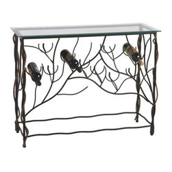 MIDWEST CBK - Wine Table with Ten Bottle Lower Wine Rack - Wine Table with Ten Bottle Lower Wine Rack. Shop home furnishings, decor, and accessories from Posh Urban Furnishings. Beautiful, stylish furniture and decor that will brighten your home instantly. Shop modern, traditional, vintage, and world designs.