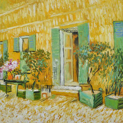 "overstockArt.com - Van Gogh - Exterior of a Restaurant at Asnieres - 20"" X 24"" Oil Painting On Canvas Hand painted oil reproduction of a famous Van Gogh painting, Exterior of a Restaurant at Asnieres . The original masterpiece was created in 1887. Today it has been carefully recreated detail-by-detail, color-by-color to near perfection. Vincent Van Gogh's restless spirit and depressive mental state fired his artistic work with great joy and, sadly, equally great despair. Known as a prolific Post-Impressionist, he produced many paintings that were heavily biographical. This work of art has the same emotions and beauty as the original. Why not grace your home with this reproduced masterpiece? It is sure to bring many admirers!"