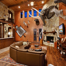 Contemporary Living Room by Sterling Custom Homes