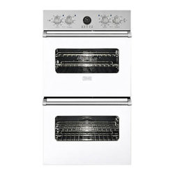 "Viking 30"" Double Electric Wall Oven, White 